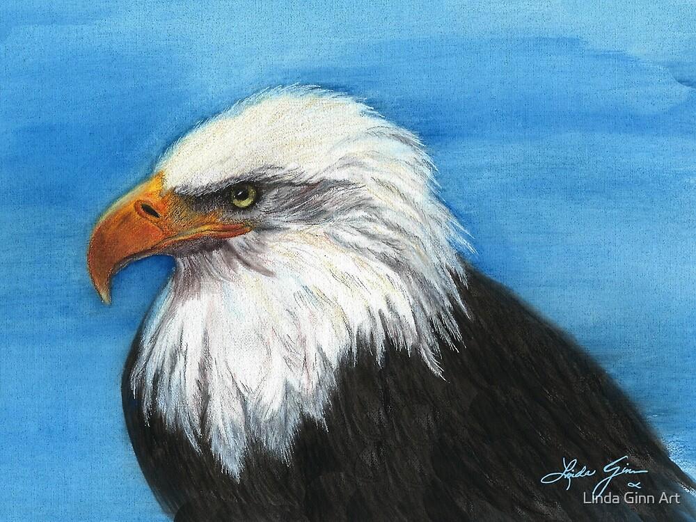 Majestic Eagle by Linda Ginn Art