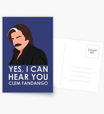 Yes, I can hear you Clem Fandango. Postcards