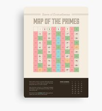 Map of the Primes Canvas Print