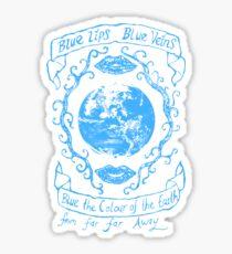 Blue Lips, Blue Veins. In Blue  Sticker
