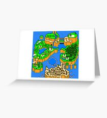 Super Mario World: Dinosaur Land Greeting Card