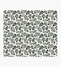 Floral seamless pattern with green fern leaves Photographic Print