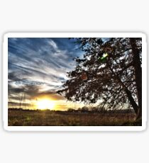 Sunset On The Farm Sticker