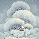 Arctic Fox Huddle by Vivienne To