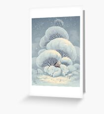 Arctic Fox Huddle Greeting Card
