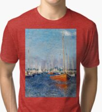 Claude Monet - Red Boats, Argenteuil (1875)  Tri-blend T-Shirt