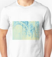 Colorful watercolor painting with classical building detail T-Shirt