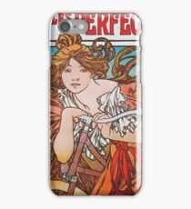 Alphonse Mucha - Cycles Perfecta 1902  iPhone Case/Skin