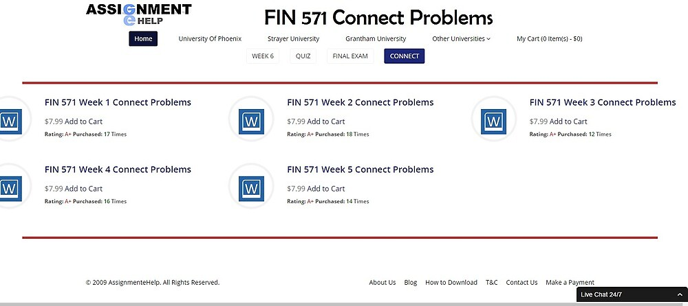 FIN 571 Connect Problems by assignmentehelp