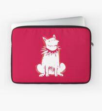 white dog red contour cartoon style illustration Laptop Sleeve