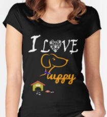 Funny Dog T-Shirt Women's Fitted Scoop T-Shirt