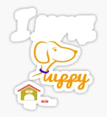 Funny Dog T-Shirt Sticker