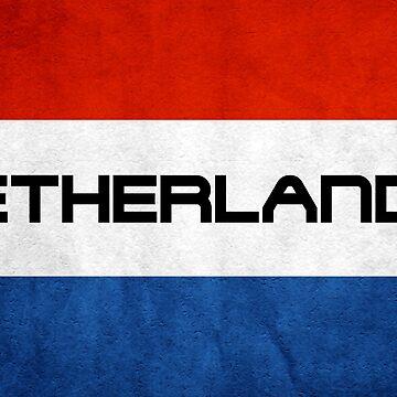 Netherlands Flag by MimiDezines