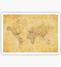 Yellow Mapping World Sticker