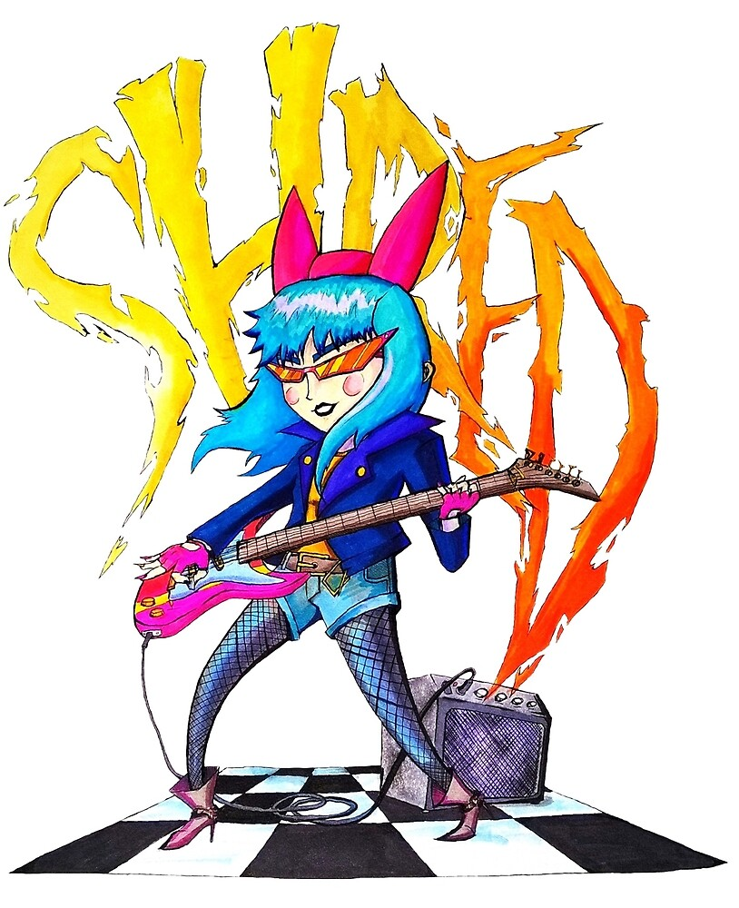 Guitar Girl SHRED LORD by jackdcurleo