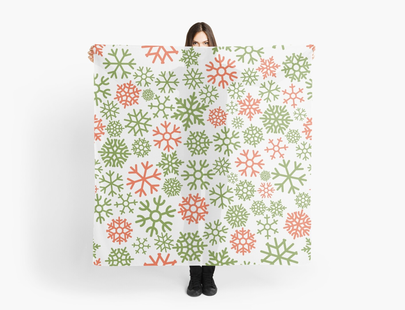 Colorful snowflakes seamless pattern by dimair