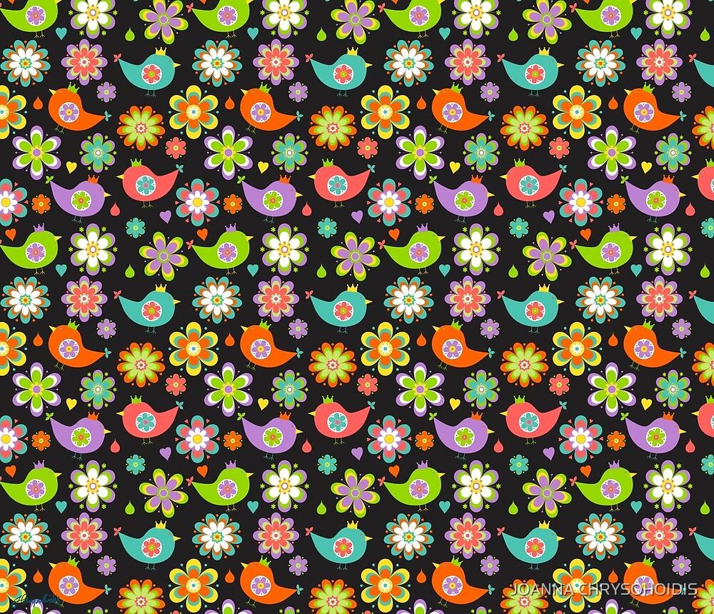 Birds And Flowers by JOANNA CHRYSOHOIDIS
