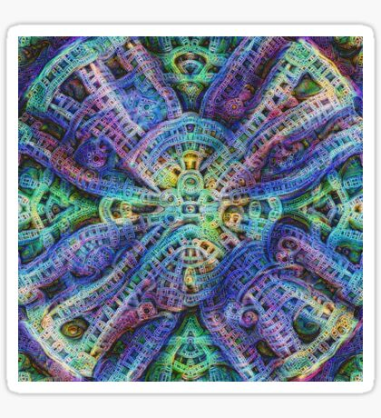 #DeepDream Temple Sticker