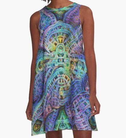 #DeepDream Temple A-Line Dress