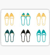 Cute Shoes collection. Vector Illustration Sticker