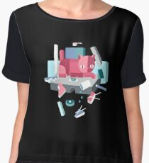 Accident at the sushi resturant Women's Chiffon Top