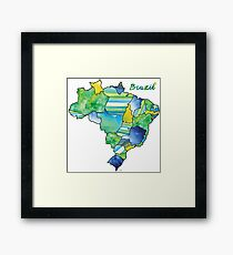 Watercolor Countries - Brazil Framed Print