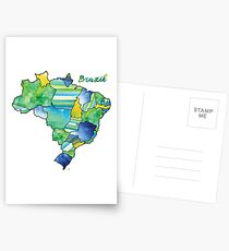 Watercolor Countries - Brazil Postcards