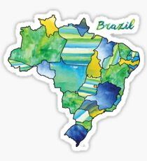 Watercolor Countries - Brazil Sticker