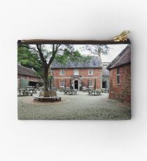 """ Stourhead Courtyard and Pub."" Studio Pouch"