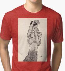 Egon Schiele - Zeichnungen II  (1914)  Tri-blend T-Shirt