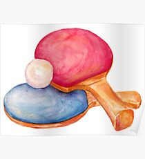 ping pong. table tennis Poster