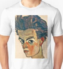 Egon Schiele - Self Portrait with Striped Shirt (1910)  T-Shirt