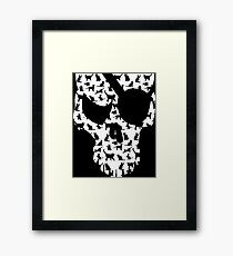 skull and cats  Framed Print
