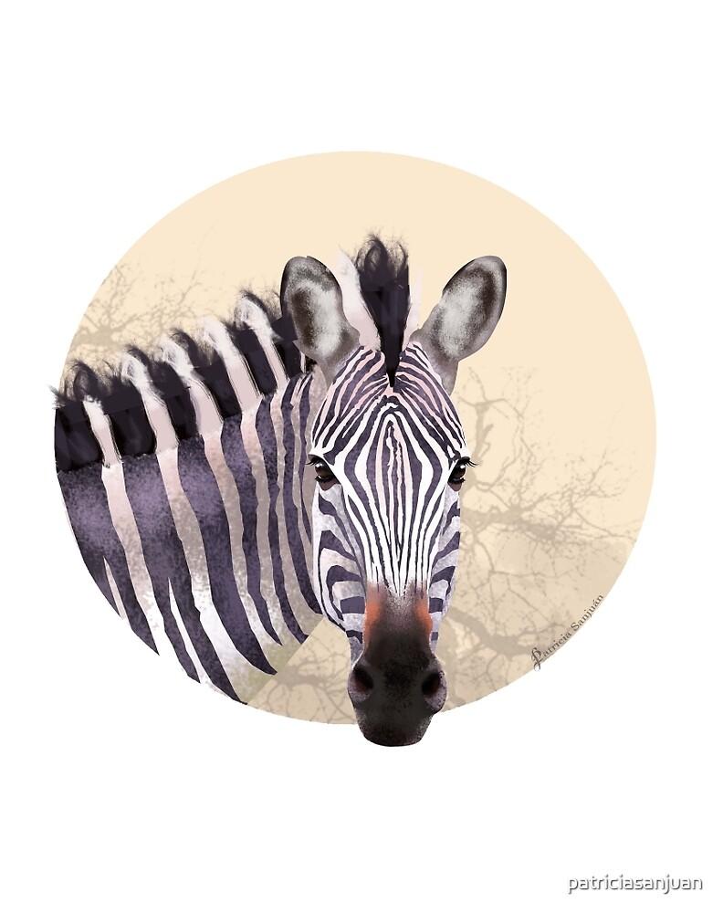 Savanna Zebra by patriciasanjuan