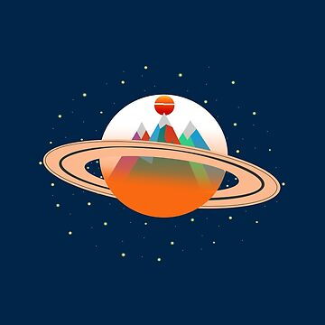 Mountains of Saturn by aliatuha