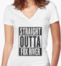 Prison Break - Straight Outta Women's Fitted V-Neck T-Shirt