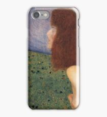Gustav Klimt - Girl With Blue Veil, 1902 iPhone Case/Skin