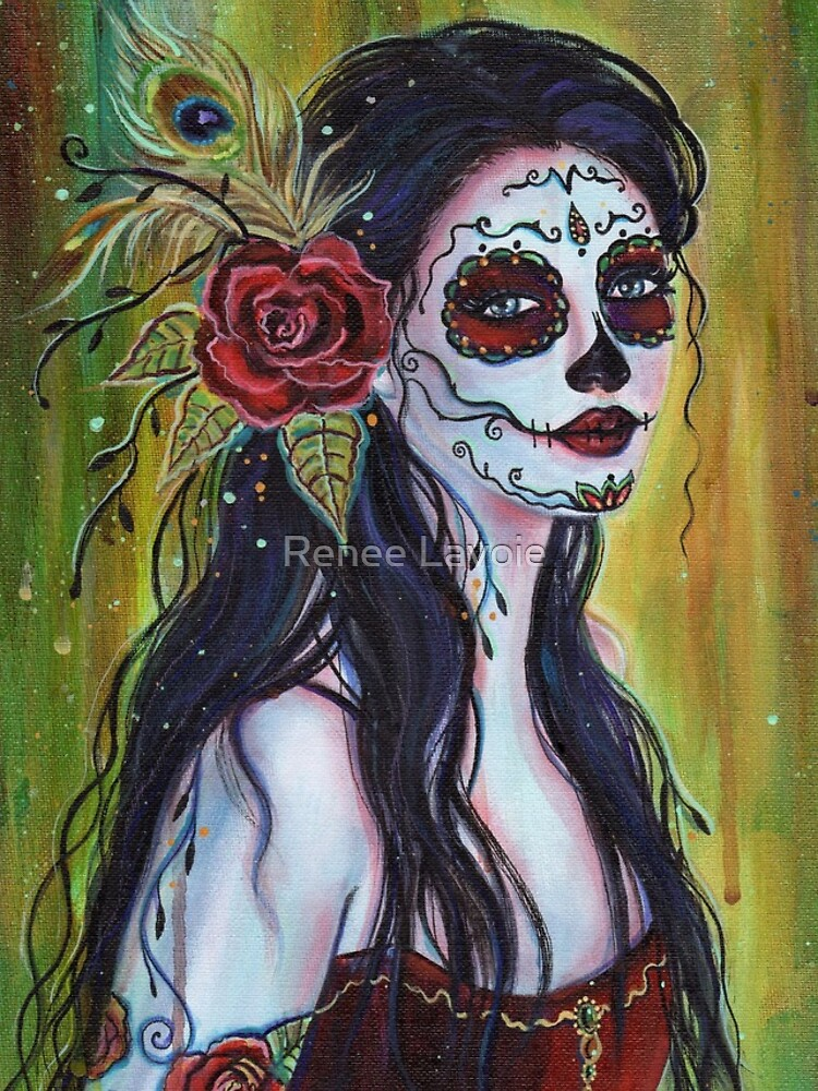 Lila day of the dead art by Renee L Lavoie by fairylover17