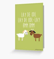 Sound of music goat herd Greeting Card