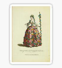 Habit of Perdita in the comedy of the Winter's Tale Perdita dans la comédie intitulée The Winter's Tale 371 Sticker