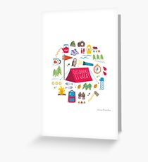 Outdoors is great Greeting Card