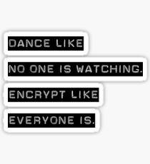 Pegatina Encriptar como todos están mirando (solo texto)