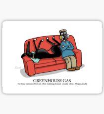 Greyhound Glossary: Greynhouse Gas Sticker