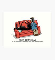 Greyhound Glossary: Greynhouse Gas Art Print
