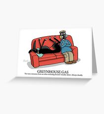 Greyhound Glossary: Greynhouse Gas Greeting Card