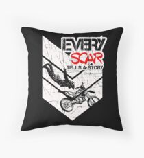 EVERY SCAR TELLS A STORY Throw Pillow