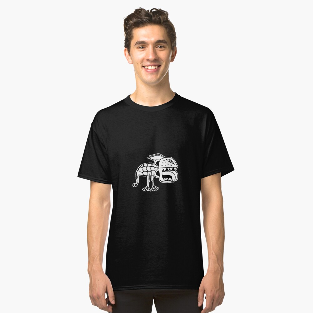 Exotic Primitive Monster Illustration Classic T-Shirt Front