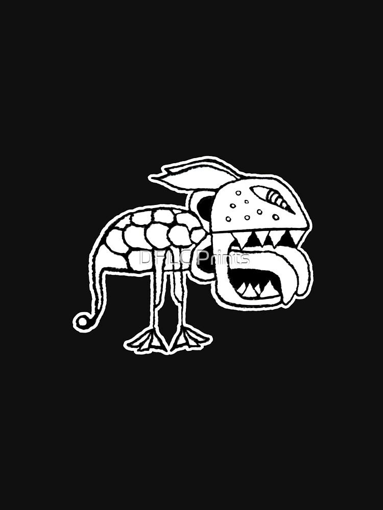 Exotic Primitive Monster Illustration by DFLCreative