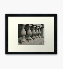 old stone balusters Framed Print