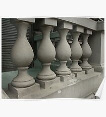old stone balusters Poster
